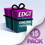EDGT Tutorial Fifteen Pack Bundle